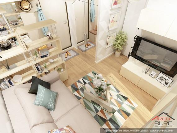 Малогабаритная квартира, г. Москва. Дизайн интерьеров