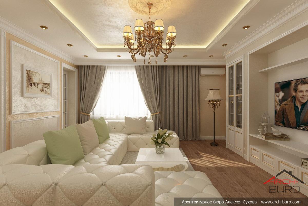 Дизайн интерьеров квартиры в классическом стиле, г. екатерин.