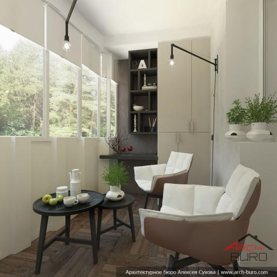 Проект дизайна современной квартиры