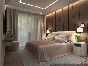 Дизайн спальни в современной квартиры в городе Москва