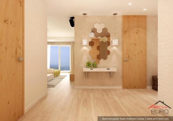 Прихожая. Дизай интерьеров 3 комнатной квартиры, г. Хабаровск