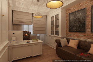 Дизайн интерьера кабинета. Классический стиль