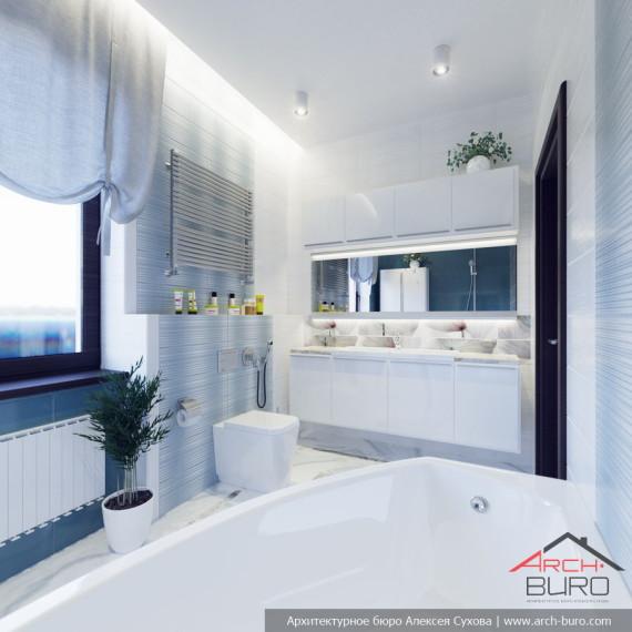 Проект ванной комнаты г.Уфа
