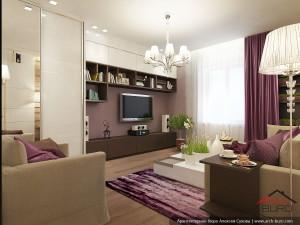 Дизайн интерьера гостиной г. Тарко-Сале