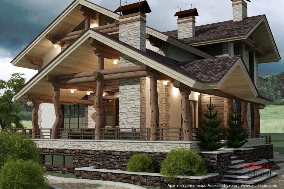 dom-v-stile-shale-8-570x380 Дом в стиле шале Свой дом