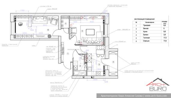 Дизайн и планировка квартиры в городе Тарко-Сале