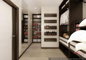 Дом 3 этажный в Петербурге. Дизайн гардеробной