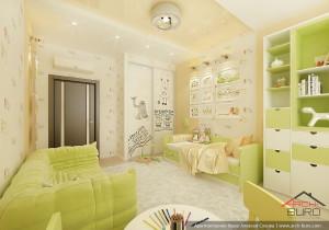 Петербург. Дизайн интерьера детской комнаты