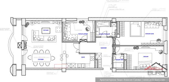 Планировка квартиры в Ереване