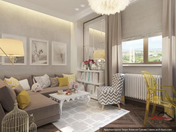 Дизайн квартиры в Армении. г. Ереван. Спальня дочери