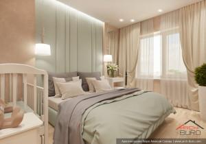 Спальня в квартире для молодой семьи
