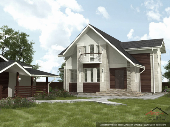 Дизайн фасада частного загородного дома