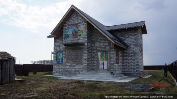 Фасад дома до проекта реконструкции