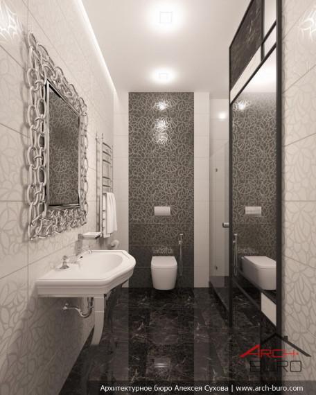 Дизайн квартиры в Астане. Казахстан. Интерьер гостевого туалета