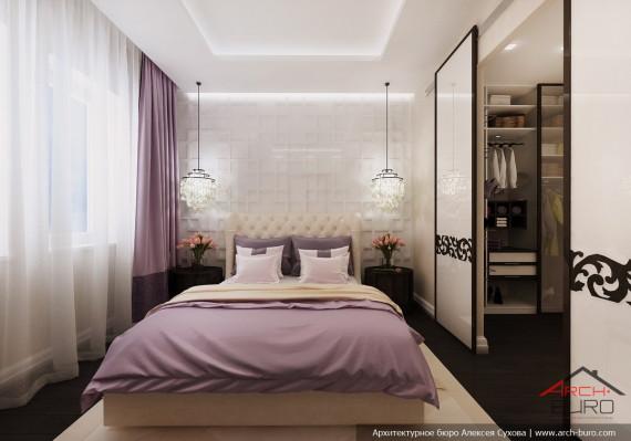 Дизайн квартиры в Астане. Казахстан. Интерьер спальни