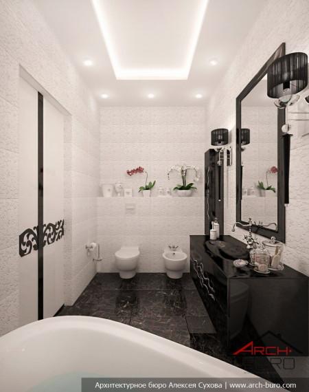 Дизайн квартиры в Астане. Казахстан. Интерьер ванной комнаты