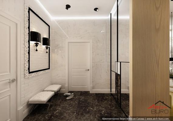 Дизайн квартиры в Астане. Казахстан. Интерьер холла-прихожей