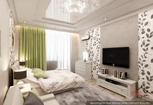 Дизайн в Подмосковье, интерьер спальни