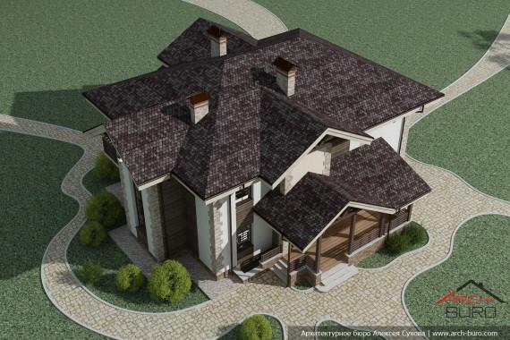 2 этажный дом. Архитектурный проект