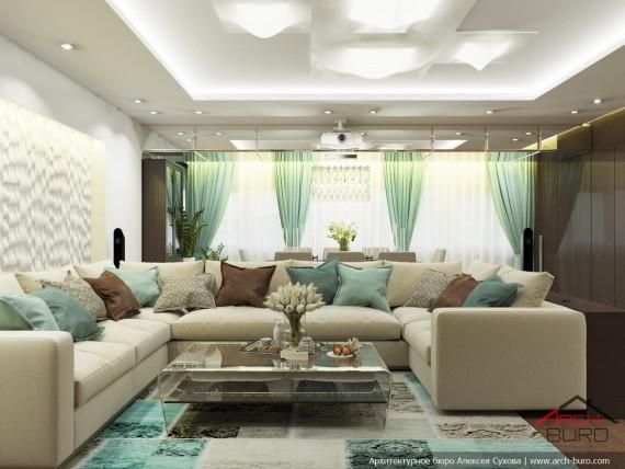Квартира в Ташкенте. Дизайн гостиной