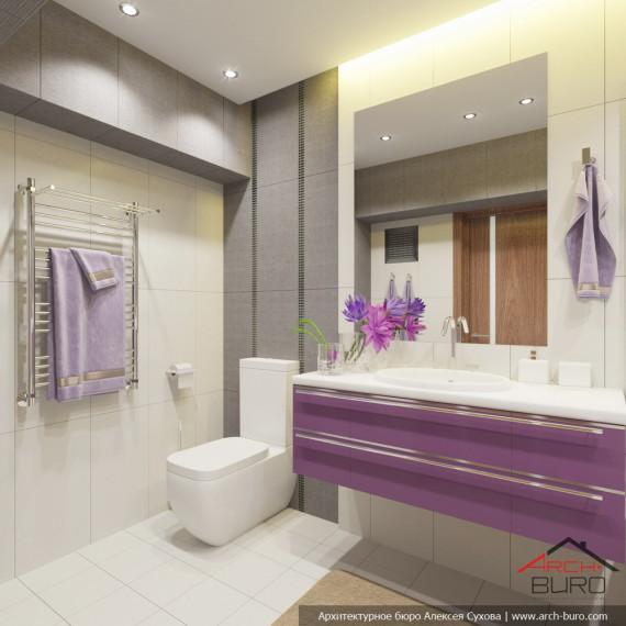 Дизайн проект ванной в Ташкенте, Узбекистан.