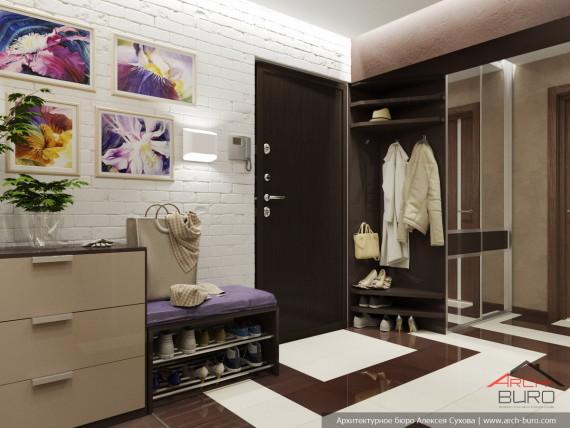 Дизайн квартиры в Ташкенте. Прихожая-холл