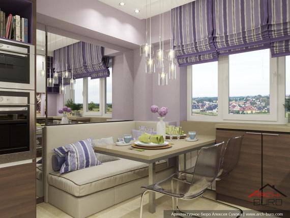 Квартира в Ташкенте. Дизайн кухни