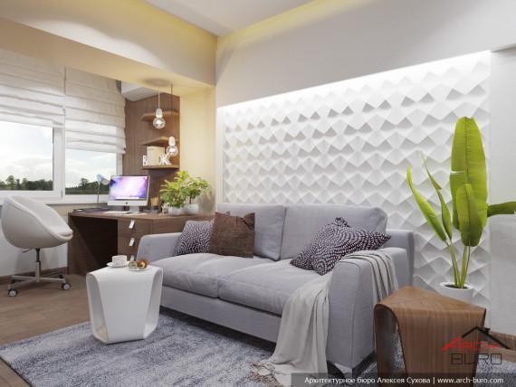 Дизайн квартиры Ташкент. Гостевая комната