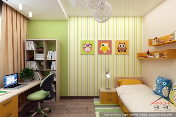 Дизайн детской комнаты. Коттедж в Южно-Сахалинске