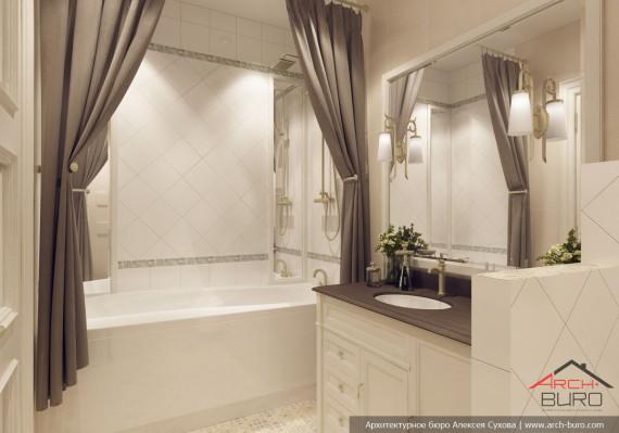 ЖК Крылов. Дизайн ванной комнаты