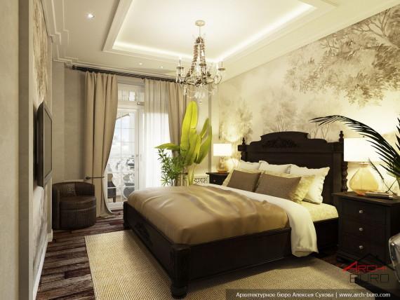 Квартира на Мосфильмовской. Интерьер спальни