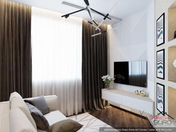 Дизайн квартиры в Люберцах. Гостиная