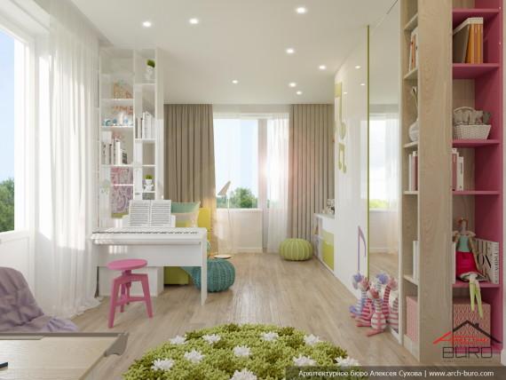 Дизайн комнаты для девочки