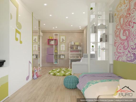 Современный дизайн комнаты для девочки