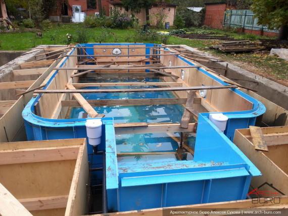 Фундамент и чаша бассейна