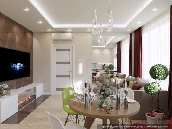 Дизайн квартиры в светлых тонах. Г.Химки. МО
