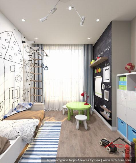 Функциональный интерьер детской комнаты в г. Химки