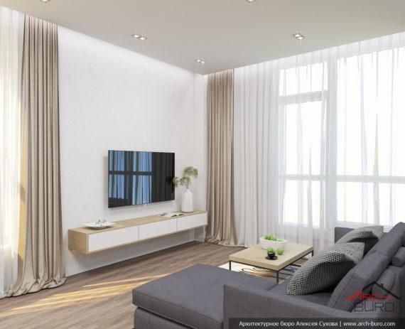 Функциональный интерьер квартиры в Химках