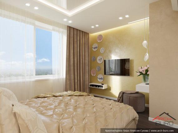 Дизайн интерьера спальни, Одесса