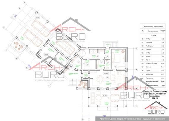 Планировка гостевой бани. Проект.