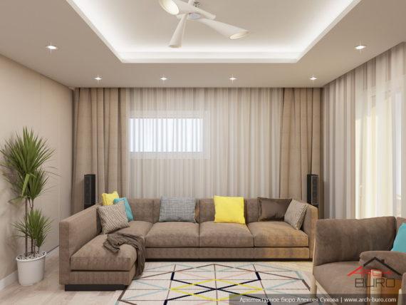 Дизайн интерьера дома во Франции. Гостиная