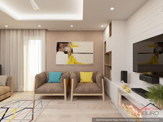 Дизайн интерьера гостиной. Франция