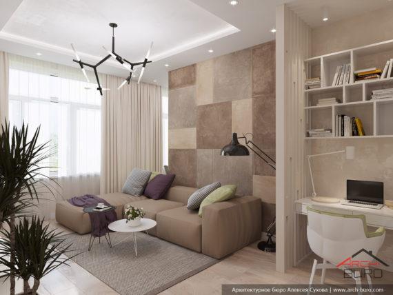 Дизайн квартиры спб. Интерьер гостиной