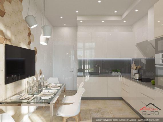 Дизайн квартиры спб. Дизайн кухни