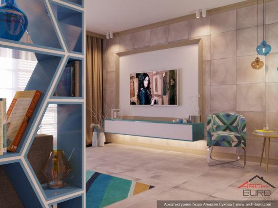 Апартаменты на острове Тенерифе. Дизайн интерьера гостиной