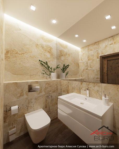 Дизайн интерьера бани. Туалет