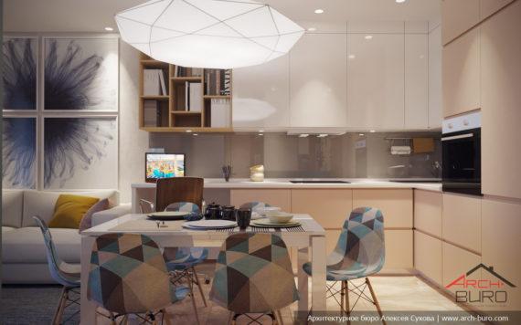 Квартира в Уфе. Дизайн кухни