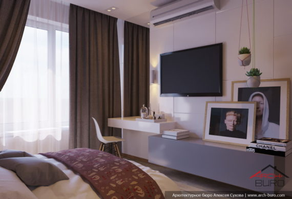 Квартира в Уфе. Дизайн спальни