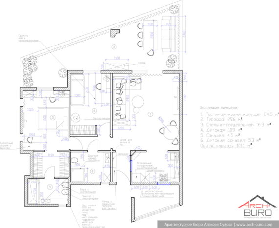 Планировка апартаментов на острове Тенерифе. Канарские острова