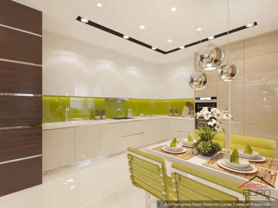 Загородный дом. Дизайн кухни